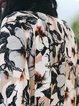 Multicolor Floral Printed Long Sleeve Coat
