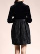 Black Jacquard Vintage A-line Mini Dress