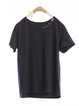 Black Cotton-blend Short Sleeve Letter T-Shirt