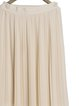 Beige Solid Chiffon Casual Pleated Maxi Skirt
