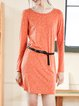 Orange Shift Casual Mini Dress
