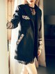 Black Vintage Tribal Long Sleeve Coat