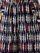 Navy Blue Sleeveless Spaghetti Geometric Printed Jumpsuit