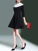 Black Elegant Paneled Mini Dress