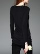 Asymmetrical Casual Ruched Long Sleeve Tunic