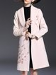Plain Long Sleeve Casual Wool-blend Pockets Coat