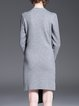 Gray Appliqued Casual Mini Dress