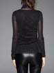 Black Turtleneck Long Sleeve Plain Top