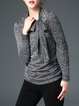 Casual Crew Neck Plain Long Sleeve Top