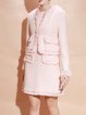 Two Piece Woven Fringed Elegant Long Sleeve Plain Two Piece Midi Dress