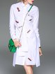 Elegant Embroidered Long Sleeve Shirt Dress