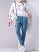 Plain Cotton Casual Polyester Track Pants