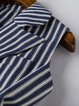 Dark Blue Pockets Two Piece Stripes Casual Suits And Separate