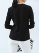 Casual Cotton Crew Neck Long Sleeved Top