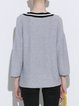 Casual Cotton Long Sleeve V Neck Sweater