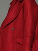 Wine Red Wool Blend Long Sleeve Symmetric Coat