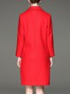 Red Solid Simple Wool Blend Symmetric Coat
