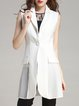 Elegant Shift Pleated Sleeveless Vests And Gilet