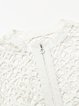 White H-line Long Sleeve Pierced Cropped Jacket