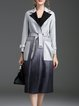 Light Blue Elegant Gradient Coat