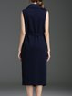 Navy Blue Elegant Solid Vests
