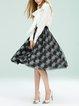 Casual Printed Floral Midi Skirt