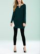 Batwing Solid Bateau/boat Neck Sweater