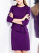 3/4 Sleeve Elegant Midi Dress