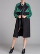 Casual Nylon Buttoned Long Sleeve Coat
