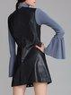 Solid Sleeveless Crew Neck Casual Mini Dress