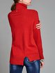 Turtle Neck Long Sleeve High Low Sweater