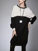 Knitted Long Sleeve Solid Casual Sweater Dress