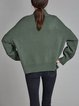 Acrylic Knitted Long Sleeve Turtleneck Casual Sweater