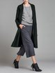 Deep Gray Casual Paneled Rayon Lapel Coat