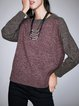 Plus Size Crew Neck Long Sleeve Sweater