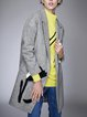 Long Sleeve Patch Blend H-line Coat
