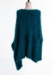 Crew Neck Solid Simple Knitted Batwing Sweater
