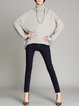 Batwing Simple High Low Turtleneck Sweater