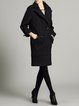 Lapel Simple Long Sleeve Wool blend Coat