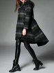 A-line Casual Wool Blend Long Sleeve Coat