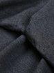 Gray Cotton-blend Turtleneck Rivets Short Sleeve Blouse