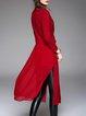 Long Sleeve Simple Lapel Shift Plain Coat
