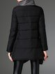 Black Asymmetrical Long Sleeve Zipper Coat