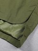 Army Green Casual Hoodie Pockets Cotton Coat
