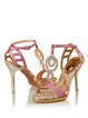 Pink Party & Evening Summer T-strap Stiletto Heel Sandals