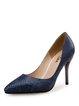 Blue Stiletto Heel Pointed Toe Heels