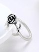 Silver-Color Rose Ring