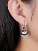 Black 925 Sterling Silver Zircon Earrings