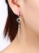 Silver 925 Sterling Silver Heart Earrings
