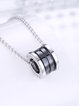 Black Geometry 925 Sterling Silver Necklace